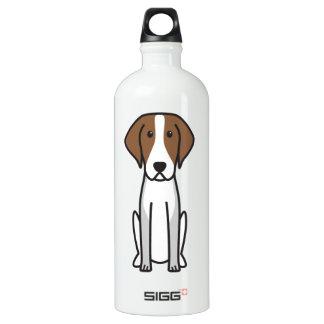 American Foxhound Dog Cartoon Aluminum Water Bottle