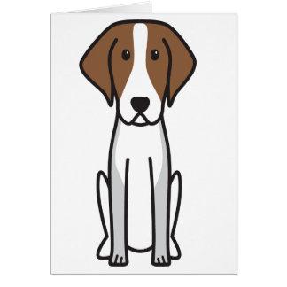 American Foxhound Dog Cartoon Card