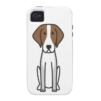 American Foxhound Dog Cartoon iPhone 4/4S Cases
