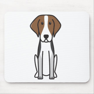 American Foxhound Dog Cartoon Mouse Pad