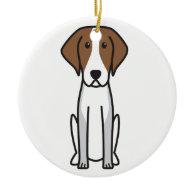 American Foxhound Dog Cartoon Christmas Tree Ornaments