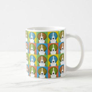 American Foxhound Dog Cartoon Pop-Art Coffee Mug