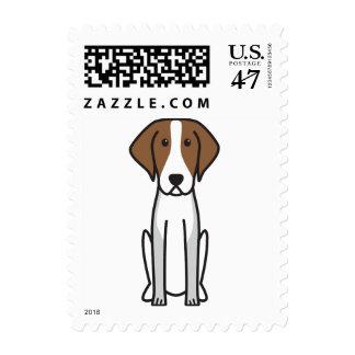 American Foxhound Dog Cartoon Postage