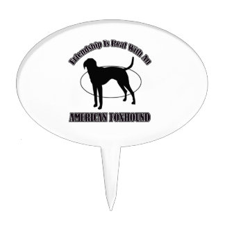 AMERICAN FOXHOUND DOG DESIGNS CAKE TOPPERS
