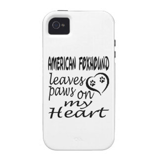 American foxhound Dog Leaves Paw On My Heart iPhone 4 Cases