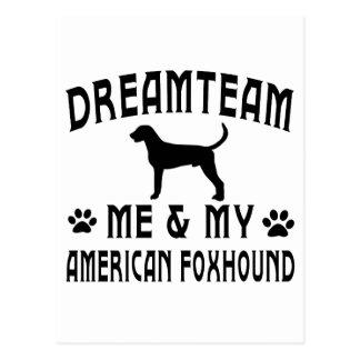 American Foxhound Dog Postcard