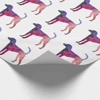 American Foxhound Geo Pattern Silhouette Pink Wrapping Paper