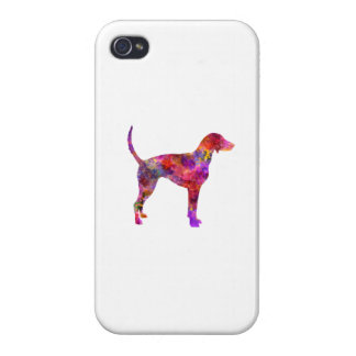 American Foxhound in watercolor 2 Case For iPhone 4