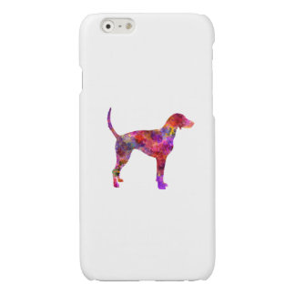 American Foxhound in watercolor 2 Glossy iPhone 6 Case