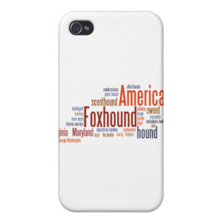 American Foxhound in Words iPhone 4/4S Cases