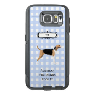 American Foxhound, Monogramed on Blue Gingham S6 OtterBox Samsung Galaxy S6 Case