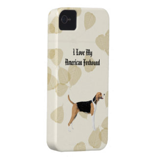 American Foxhound on Tan Leaves Case-Mate iPhone 4 Cases