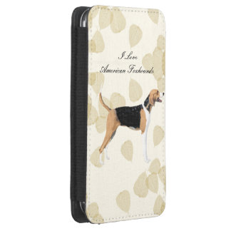 American Foxhound on Tan Leaves Galaxy S4 Pouch