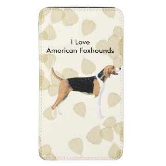 American Foxhound on Tan Leaves Galaxy S5 Pouch