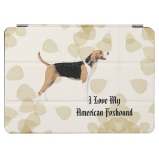 American Foxhound on Tan Leaves iPad Air Cover
