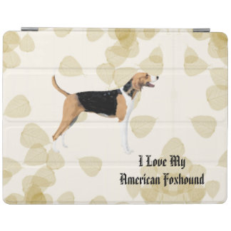 American Foxhound on Tan Leaves iPad Cover