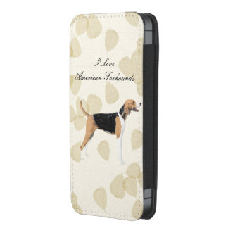 American Foxhound on Tan Leaves iPhone SE/5/5s/5c Pouch