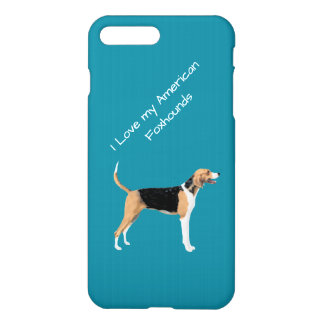 American Foxhound on teal Apple iPhone 7 Plus iPhone 8 Plus/7 Plus Case
