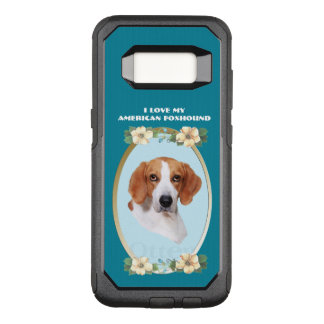 American Foxhound on Teal Floral OtterBox Commuter Samsung Galaxy S8 Case