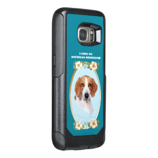 American Foxhound on Teal Floral OtterBox Samsung Galaxy S7 Case