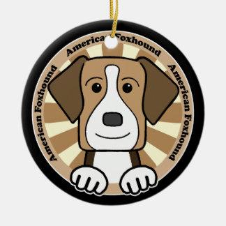 American Foxhound Christmas Tree Ornaments