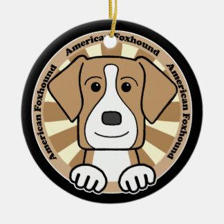 American Foxhound Christmas Ornament