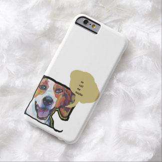 American Foxhound Pop Dog Art with funny dog quote Barely There iPhone 6 Case