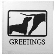 American Foxhound Printed Napkin