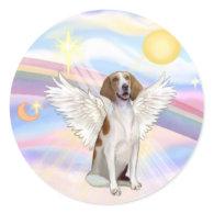 American Foxhound Round Stickers