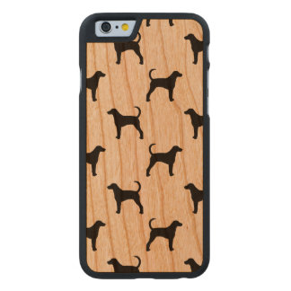 American Foxhound Silhouettes Pattern Carved Cherry iPhone 6 Case