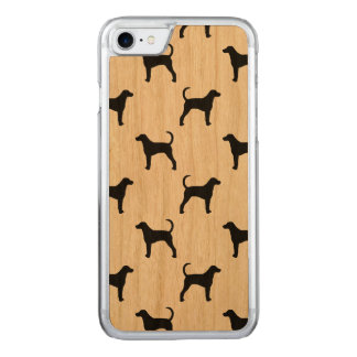 American Foxhound Silhouettes Pattern Carved iPhone 8/7 Case