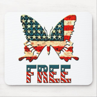 American Freedom Butterfly Mouse Pad