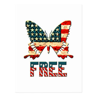 American Freedom Butterfly Postcard