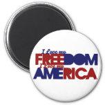 American freedom fridge magnet
