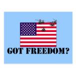 American freedom post card