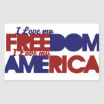 American freedom rectangular sticker