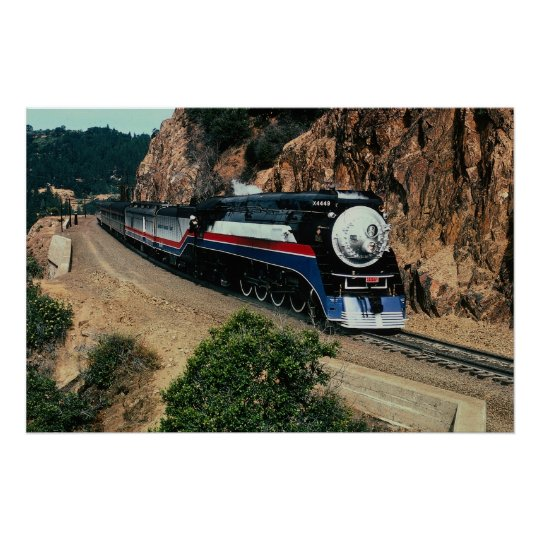 American Freedom Train 4449 at Cape Horn, Californ Poster