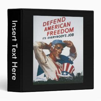 American Freedom World War 2 Binder
