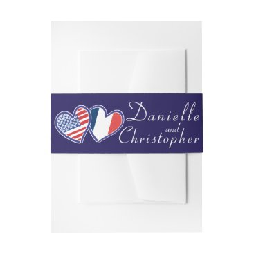 Wedding Themed American French Love Belly Band