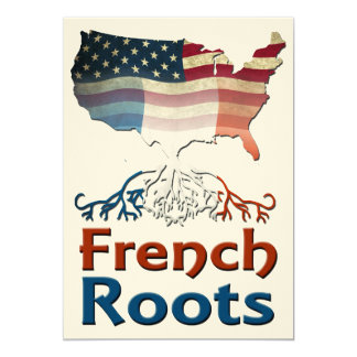 """American French Roots 5"""" X 7"""" Invitation Card"""
