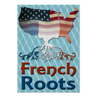 American French Roots Poster
