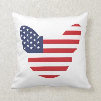 American Frenchie Throw Pillows