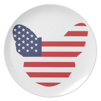 American Frenchie Dinner Plates