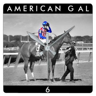 American Gal Flavien Prat. Square Wall Clock