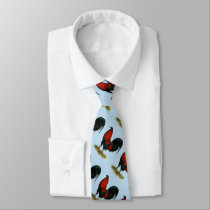 American Game BB Black Red Rooster Tie