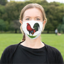 American Game BB Dark Red Rooster Cloth Face Mask