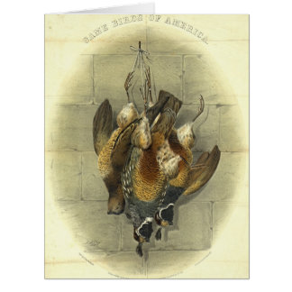 American Game Birds 1861 Card