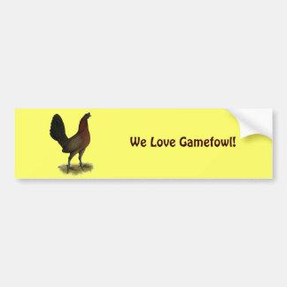 American Game Black Red Hen Bumper Sticker