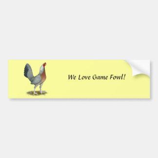 American Game Hen Silver Blue Bumper Sticker