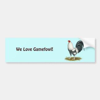 American Game Silver Blue Gamecock Bumper Sticker